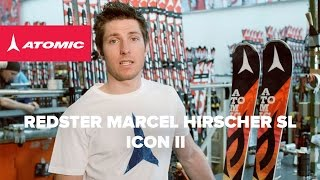 The Atomic Redster Marcel Hirscher SL is the top ski from the Marcel Hirscher Icon Series II. It combines the performance of the ...