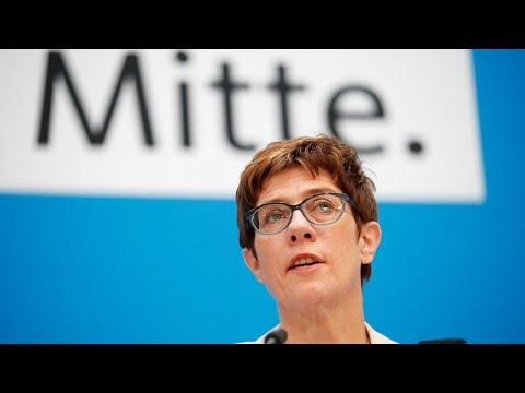 CDU: Kramp-Karrenbauer warnt Grüne vor »Aufwachen mit ...