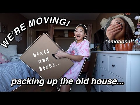 WE'RE MOVING! packing up the old house... (moving ep. 1) | Nicole Laeno