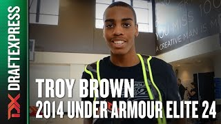 2014 Troy Brown Interview - DraftExpress - Under Armour Elite 24
