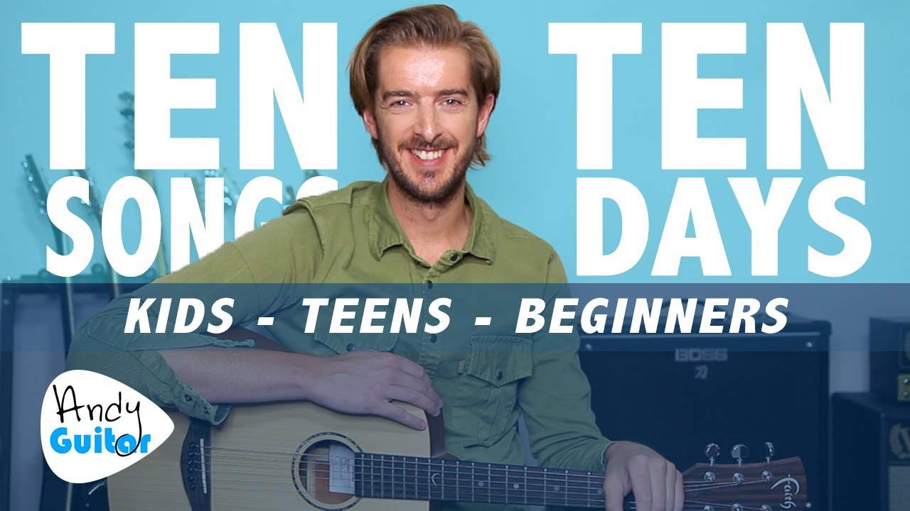 Guitar Lesson 10 for Kids // LEARN 10 SONGS IN 10 DAYS