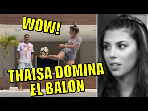 SORPRENDE! THAISA LEAL DOMINA EL BALON CON PAOLO GUERRERO Y ENAMORA A TODOS