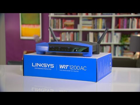 The retro Linksys WRT1200AC router is just so stackable