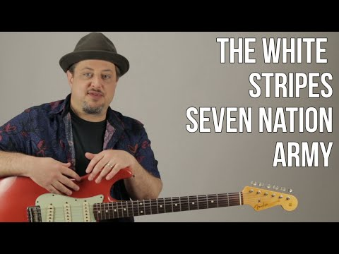Video Seven Nation Army guitar Lesson - White Stripes - Jack White - How to Play download in MP3, 3GP, MP4, WEBM, AVI, FLV January 2017