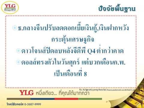 YLG บทวิเคราะห์ราคาทองคำประจำวัน 02-03-15