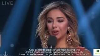 Miss California flubbed the interview portion of the Miss USA competition on Sunday.