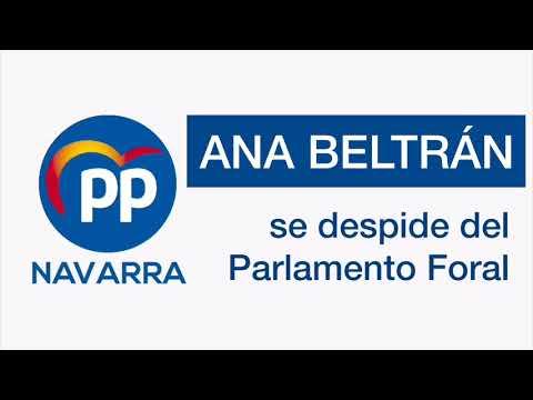Despedida de Ana Beltrán del Parlamento de Navarra...