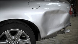 Video Repair of a damaged side panel on a Jaguar convertible with the Miracle-System. MP3, 3GP, MP4, WEBM, AVI, FLV Januari 2019