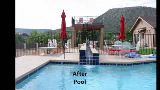 Before and After Landscape Transformation of several projects in Sedona