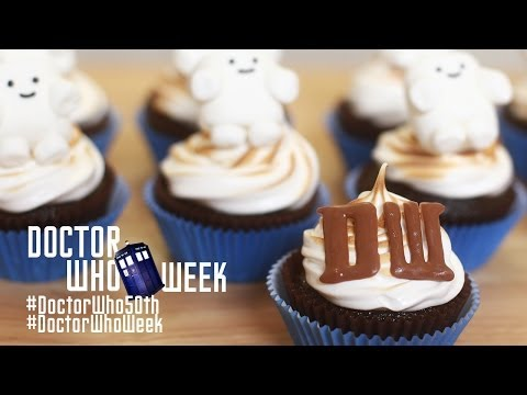 nerdy - Today I made Dr Who Adipose Cupcakes from scratch in celebration of Dr Who's 50th Anniversary! I really enjoy making nerdy themed goodies and decorating them...