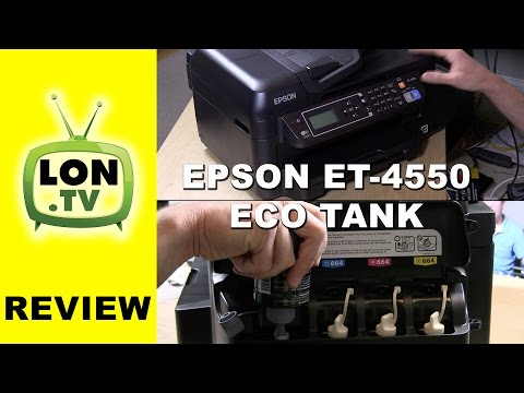 Epson WorkForce ET-4550 Eco Tank Review - No ink cartridges ! All-in-One printer fax scanner
