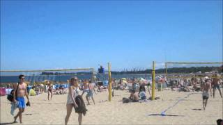 Gdansk Poland  city images : The beach on a hot summer day in Gdansk, Poland