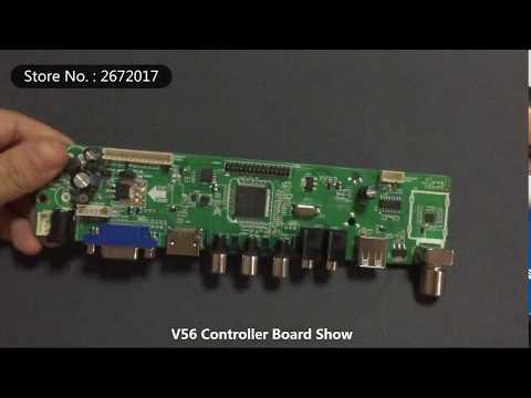 V56 Universal LCD TV Controller Driver Board TV/PC/VGA/HDMI/USB Interface USB play Multi-Media