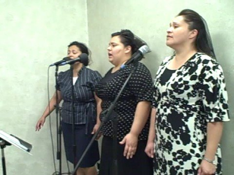 Apostolic Faith Center -Pastor Duarte singing