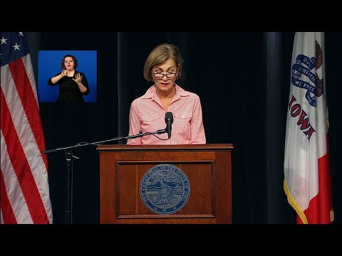 Iowa Gov. Kim Reynolds Press Conference   August 11, 2020, 11:00 a.m.