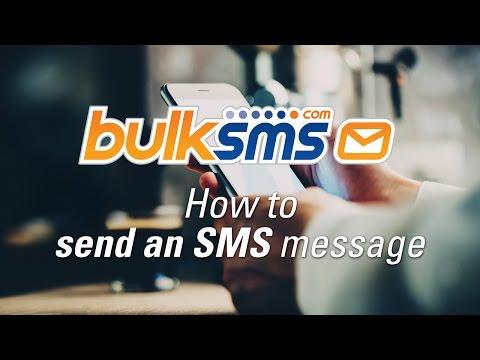 BulkSMS Text Messenger  -  How to send an SMS message