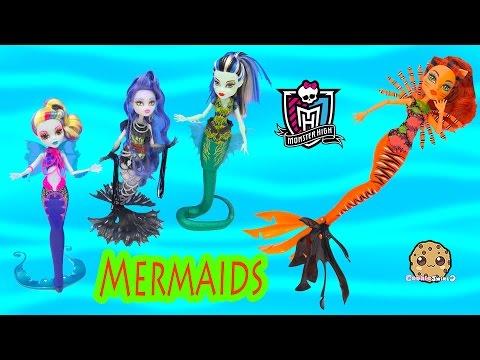 Monster High MERMAID Great Scarrier Reef 2016 Toralei Movie Doll Unboxing - Cookieswirlc
