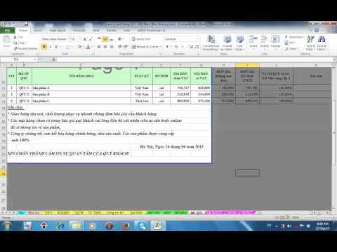 Quản lý bán hàng bằng exel – Phần giới thiệu chung (Bản Pro)