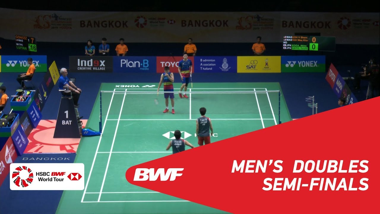 SF | MD | GOH/TAN (MAS) [1] vs KOGA/SAITO (JPN) | BWF 2019