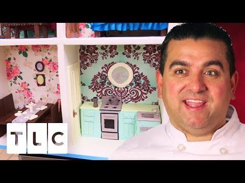 Super Detailed Life-Size Dollhouse Cake   Cake Boss