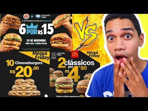 Black Friday McDonalds e Burger King!! O QUE VAI TER
