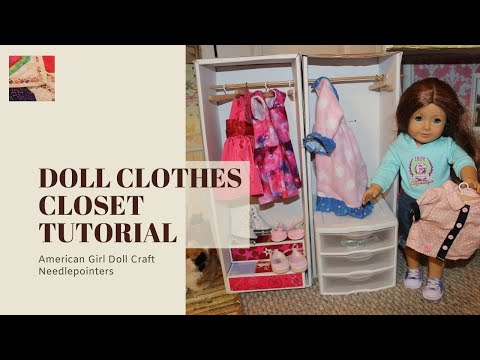 Doll Clothes Closet - How to make an American Girl Doll Closet