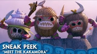 """Meet the Kakamora in this new clip.  See more in theatres when you see Moana, now playing in 3D.  Get tickets: http://MoanaTickets.comFor centuries, the greatest sailors in the world masterfully navigated the vast Pacific, discovering the many islands of Oceania. But then, 3,000 years ago, their voyages stopped for a millennium – and no one knows exactly why. From Walt Disney Animation Studios comes """"Moana,"""" a sweeping, CG-animated feature film about an adventurous teenager who is inspired to leave the safety and security of her island on a daring journey to save her people. Inexplicably drawn to the ocean, Moana (voice of Auliʻi Cravalho) convinces the mighty demigod Maui (voice of Dwayne Johnson) to join her mission, and he reluctantly helps her become a wayfinder like her ancestors who sailed before her. Together, they voyage across the open ocean on an action-packed adventure, encountering enormous monsters and impossible odds, and along the way, Moana fulfills her quest and discovers the one thing she's always sought: her own identity. Directed by the renowned filmmaking team of Ron Clements and John Musker (""""The Little Mermaid,"""" """"Aladdin,"""" """"The Princess & the Frog""""), produced by Osnat Shurer (""""Lifted,"""" """"One Man Band""""), and featuring music by Lin-Manuel Miranda, Mark Mancina and Opetaia Foa'i, """"Moana"""" sails into U.S. theaters on Nov. 23, 2016. Website: http://disney.com/moanaLike us on Facebook: https://www.facebook.com/disneymoanaFollow us on Twitter: https://twitter.com/disneymoanaFollow us on Instagram: https://instagram.com/DisneyAnimation"""