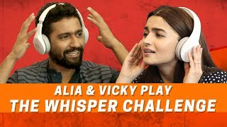 Video Alia Bhatt And Vicky Kaushal | The Whisper Challenge | Raazi | MissMalini MP3, 3GP, MP4, WEBM, AVI, FLV Januari 2019