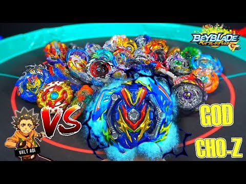 SLASH VALKYRIE VS GOD AND CHO-Z BEYBLADES