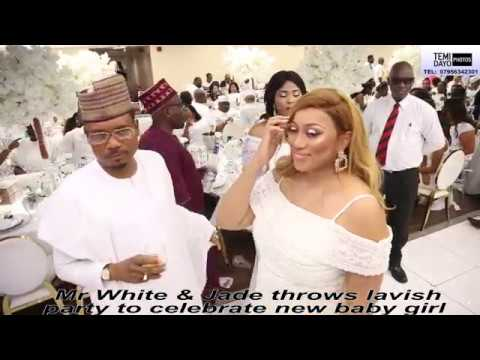 SHINA PELLER & WIFE WITH LADY PELLER AT MR WHITE'S ALL WHITE PARTY