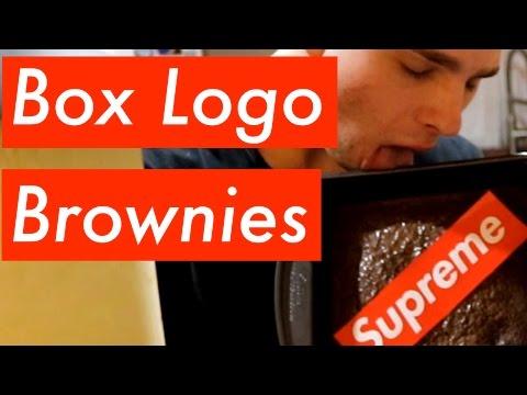SUPREME BOX LOGO BROWNIES | Baking Tutorial