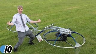 Subscribe To Inform Overload: https://www.youtube.com/user/InformOverload Colin Furze a British inventor built himself a hover bike and calls it the most out...