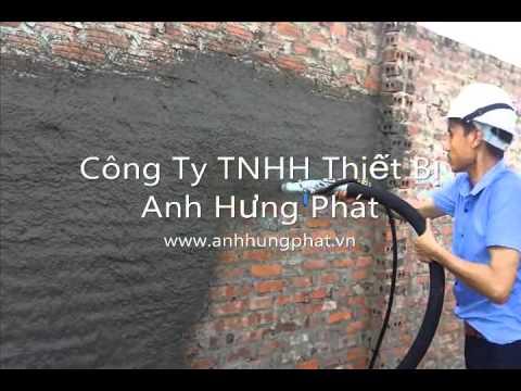 Máy Phun Vữa P40C - Thiết bị tô trát chuyên dụng hotline: 0915.804.000
