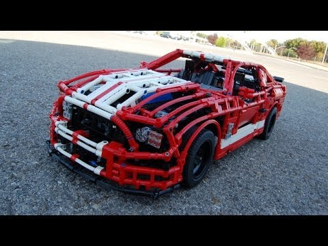 Shelby GT500 made from LEGOs