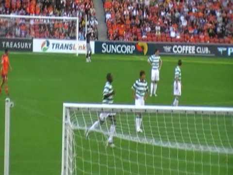 Marc-Antoine Fortune primer juego para el Celtic FC