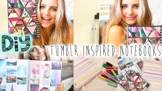 DIY: Tumblr Inspired Notebooks For School! | Aspyn Ovard - YouTube