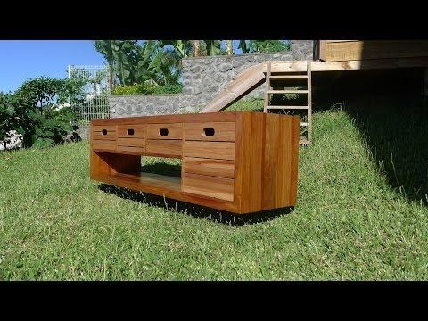 Comment construire un meuble tv avec des palettes la - Construire avec des palettes ...