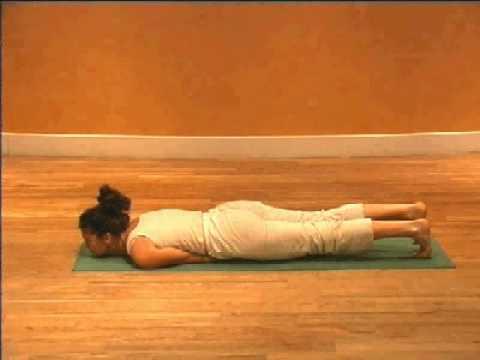 YoBoHoFitness - Victoria Adamson demonstrates Yoga The Locust.