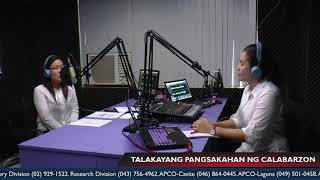 Episode 9 with Agribusiness and Marketing Assistance Division Market Specialist I Geraldine Torio
