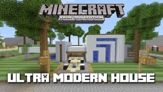 Minecraft Xbox 360: Ultra Modern House! (House Tours of Danville Episode 27)