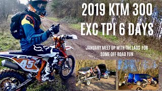 9. 2019 KTM 300 EXC TPI 6 DAYS, meet up with guys for some off road fun in icy conditions!