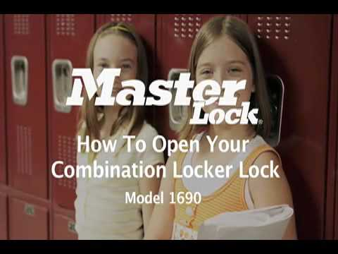 1690 Built-in Combo Lock: Operating Instructions