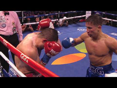 boxe: golovkin vs rubio, titolo mondiale pesi medi wba - highlights