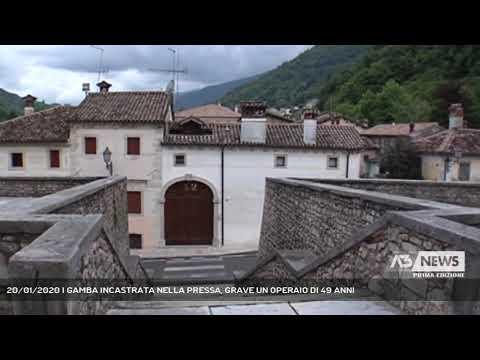 20/01/2020 | GAMBA INCASTRATA NELLA PRESSA, GRAVE UN OPERAIO DI 49 ANNI