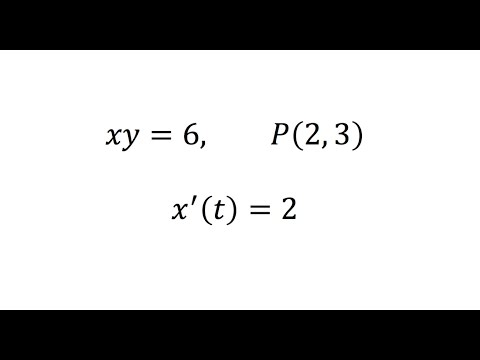 A Point Is Moving On The Graph Of Xy=6. When The Point Is (2,3), Its X-coordinate