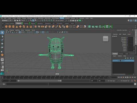 25- Maya character mirror geometry عمل عكس للجسم الكائن