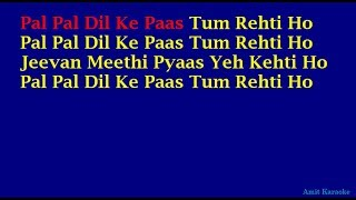 Pal Pal Dil Ke Paas - Kishore Kumar Hindi Full Karaoke with Lyrics