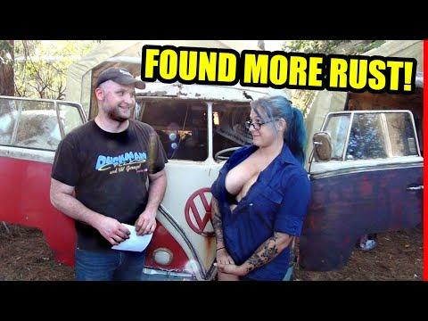 Door Broke Off - Found More Hidden Rust - 1967 VW Bus - Gregory - 22