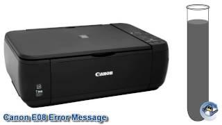 What is the Canon E08 Error Message?