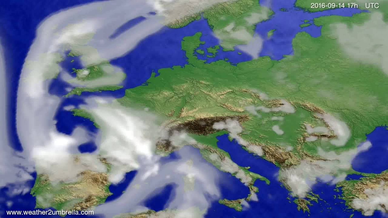 Cloud forecast Europe 2016-09-12